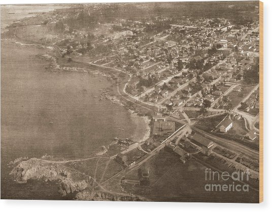 Aerial Of Lovers Point And Pacific Grove California July 10 1906 Wood Print