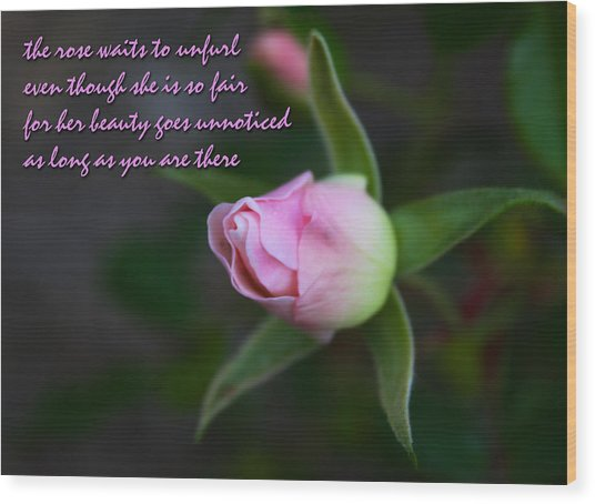Lover's Quatrain  Wood Print