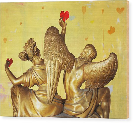 Love's Angel  C2014 Wood Print