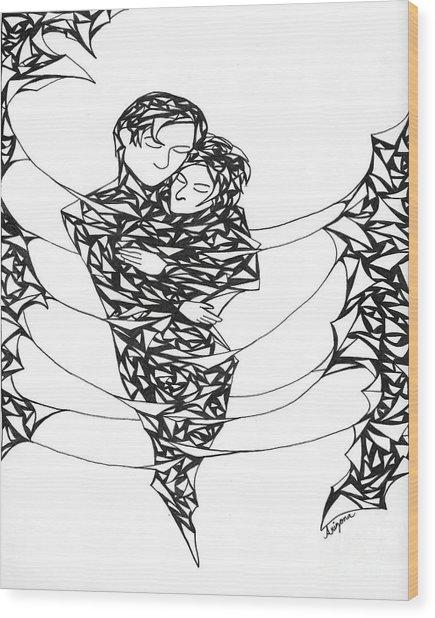 Love's Embrace Wood Print