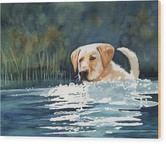 Loves The Water Wood Print