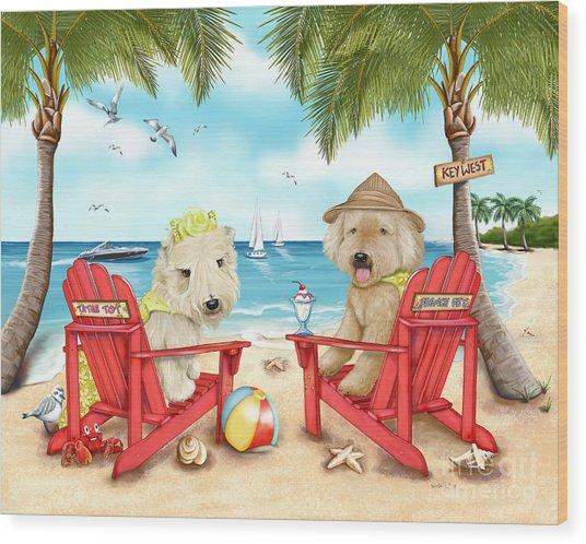 Loving Key West Wood Print