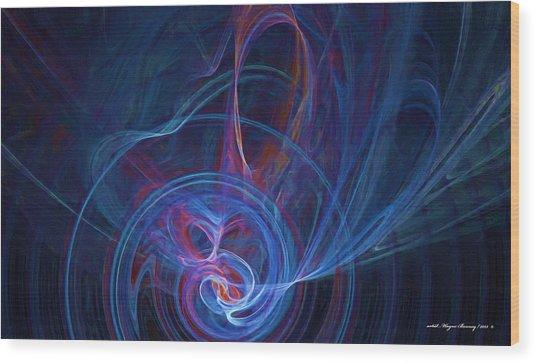 Loving The Colour Blue Wood Print