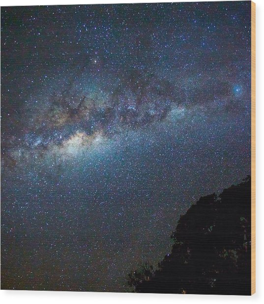 Low Angle View Of Majestic Star Field Wood Print by Brent Purcell / Eyeem