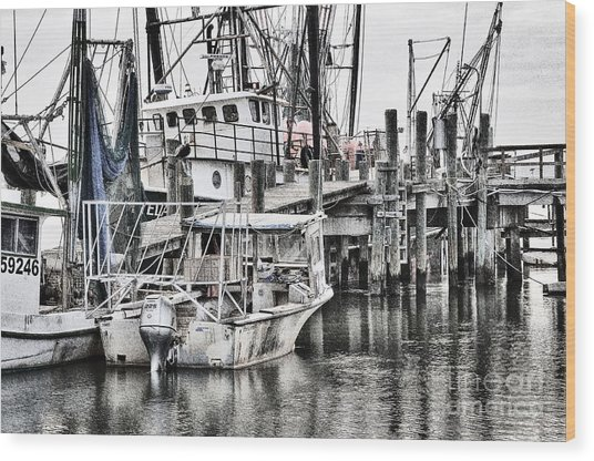 Low Country Small Craft Wood Print