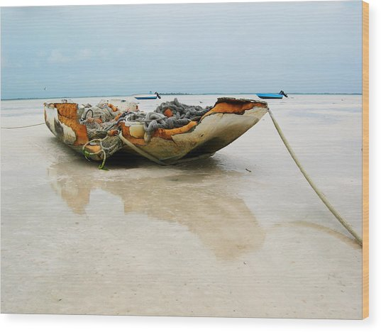 Low Tide 2 Wood Print by Sarah-jane Laubscher