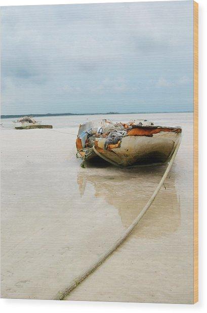 Low Tide 3 Wood Print by Sarah-jane Laubscher