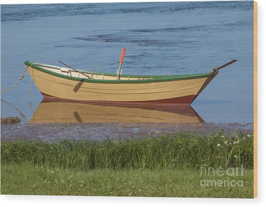 Low Tide Reflection Wood Print