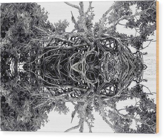 Low Tide Reflects Wood Print