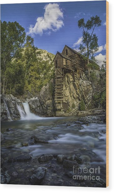 Lower Crystal Mill  Wood Print