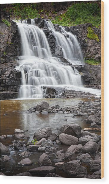 Lower Gooseberry Falls Wood Print