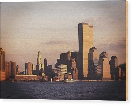 Lower Manhattan World Trade Center Wood Print