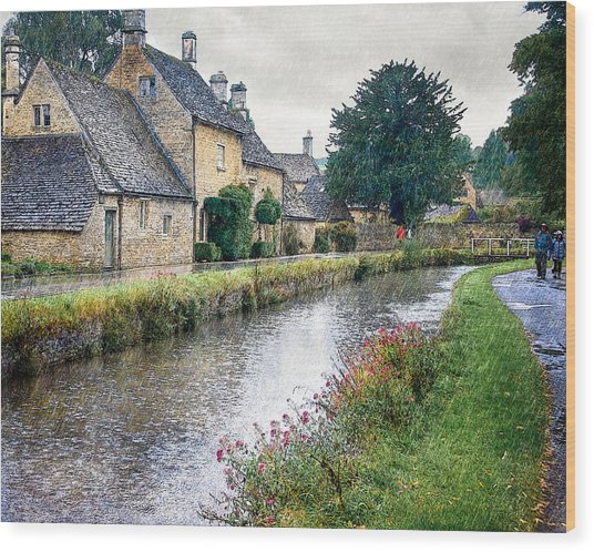 Lower Slaughter Wood Print