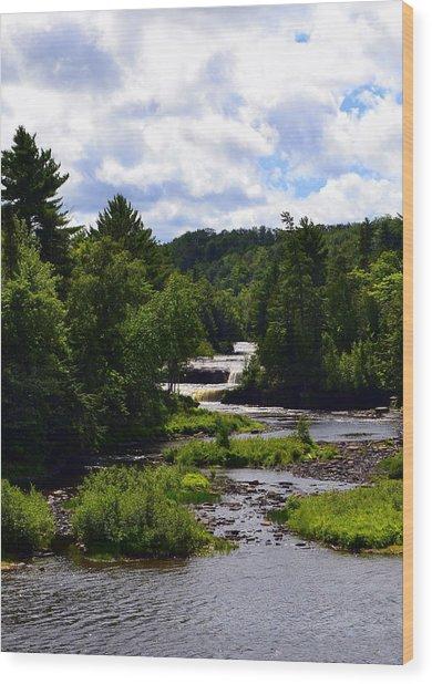 Lower Tahquamenon Falls Ll Wood Print