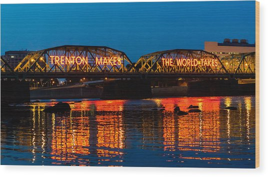 Lower Trenton Bridge Wood Print