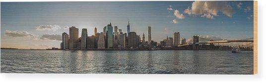 Lowerr Manhattan Panoramic Wood Print