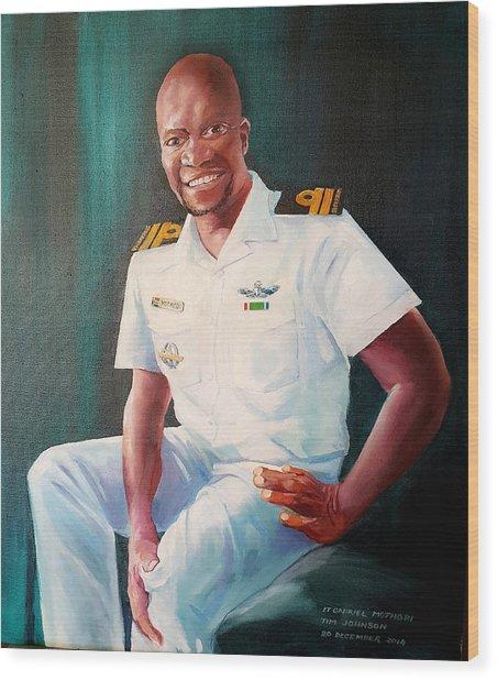 Lt Gabriel Mothobi Wood Print
