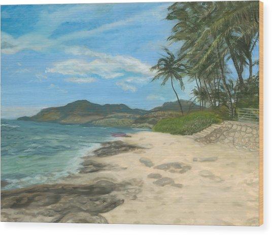 Lualualei Beach Wood Print