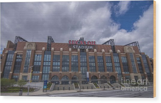Lucas Oil Stadium Indianapolis Colts Clouds Wood Print