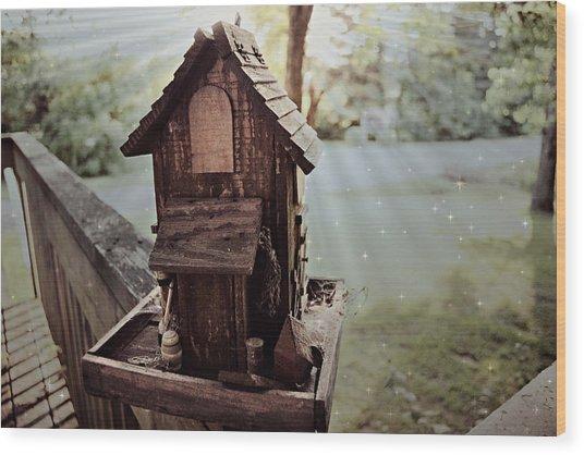 Lucid Bird House Wood Print