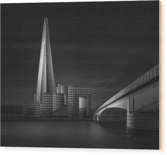 Lucid Dream II - The Shard & London Bridge Wood Print