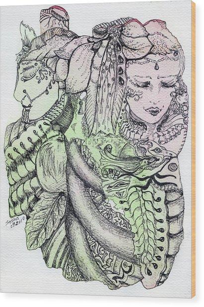 Lucid Mind - 12 Wood Print