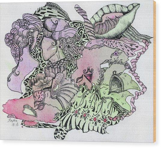 Lucid Mind - 13 Wood Print