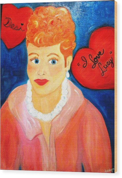 Lucile Ball Wood Print