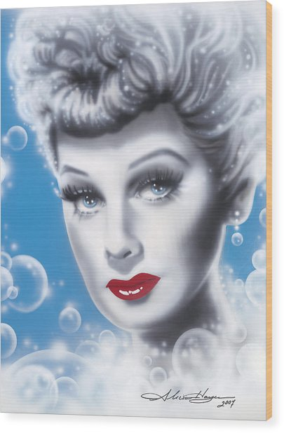 Lucille Ball Wood Print by Alicia Hayes