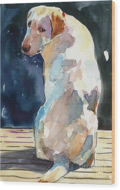 Lucy Moon Wood Print