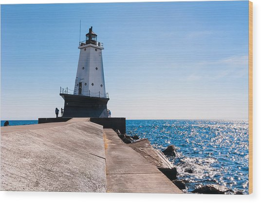 Ludington Lighthouse Wood Print