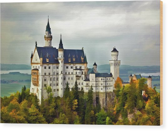 Neuschwanstein Castle In Bavaria Germany Wood Print