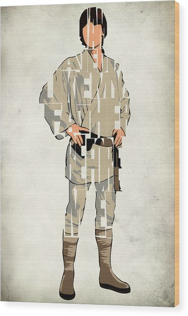 Luke Skywalker - Mark Hamill  Wood Print