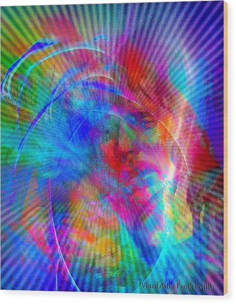 Wood Print featuring the digital art Luke by Visual Artist Frank Bonilla