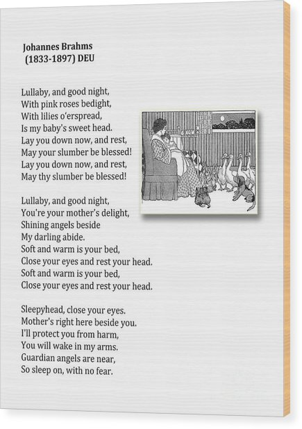 Lullaby And Good Night Wood Print