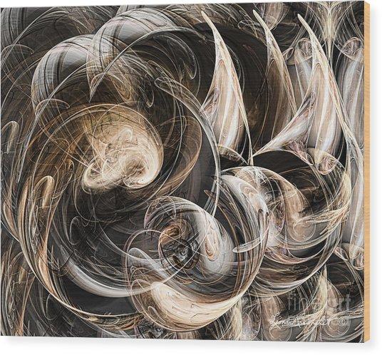 Luminance In The Dark Wood Print by Leona Arsenault
