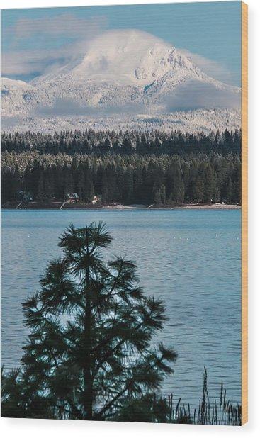 Luminous Lassen Wood Print