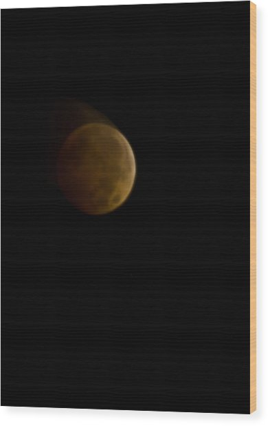 Lunar Blood Wood Print