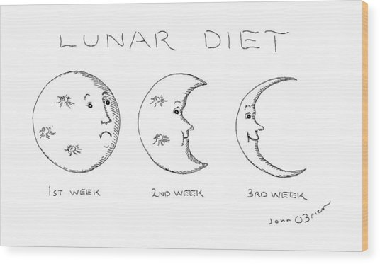 Lunar Diet Wood Print