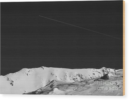 Lunar Landscape Wood Print