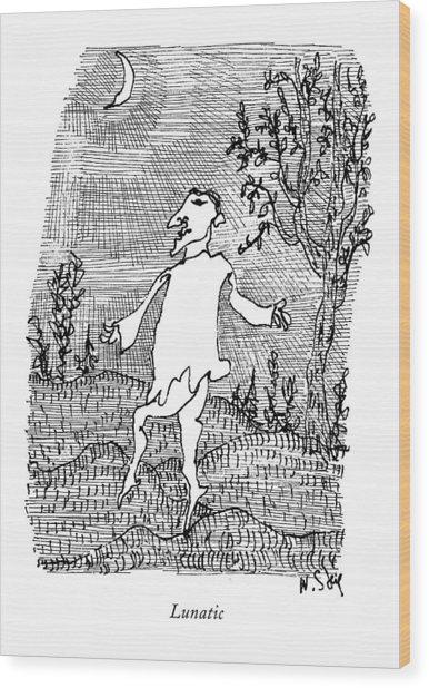 Lunatic Wood Print