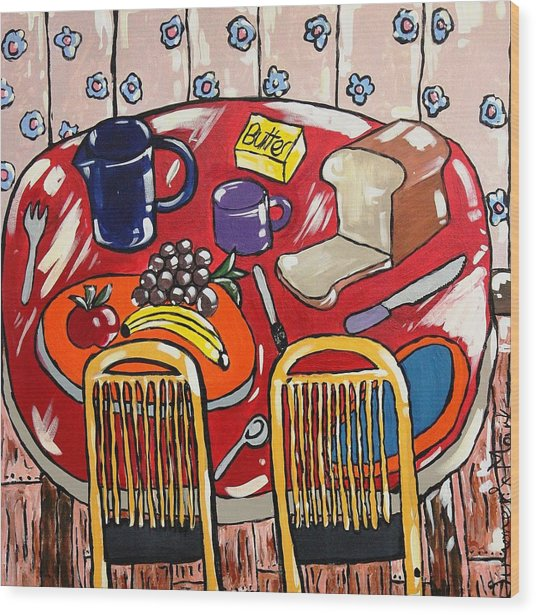 Lunch For Two  Wood Print