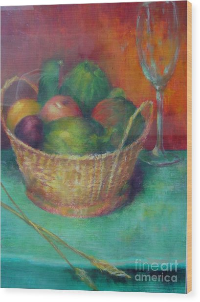 Lunch In Tuscany  Copyrighted Wood Print by Kathleen Hoekstra