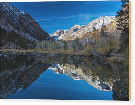 Lundys Reflection Wood Print
