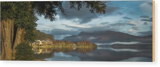 Luss Loch Lomand Wood Print