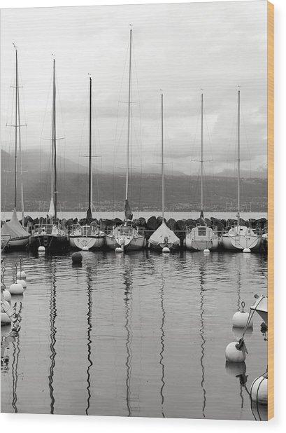 Lutry Port Wood Print