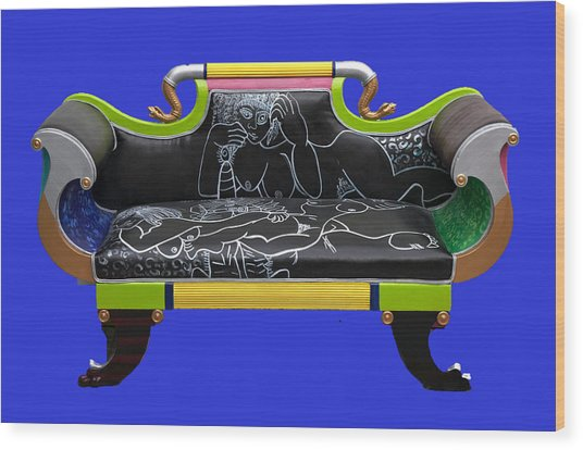 Luv Seat Wood Print