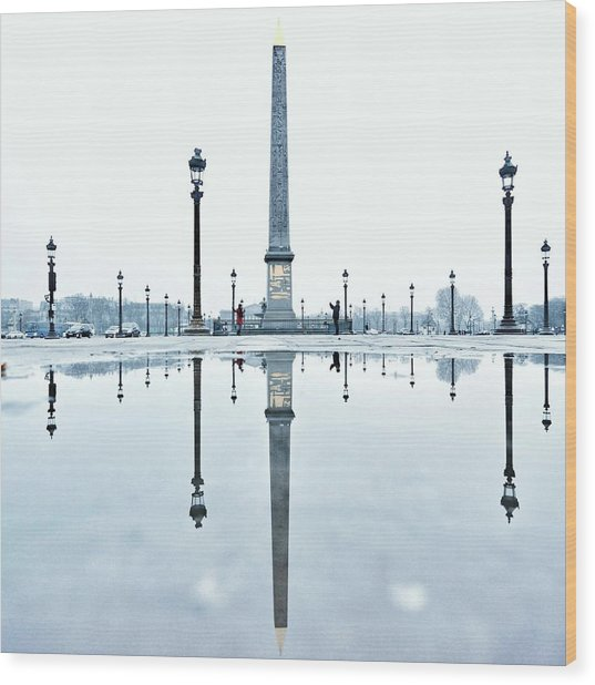 Luxor Obelisk On The Place De La Wood Print by Gerard Trang / Eyeem
