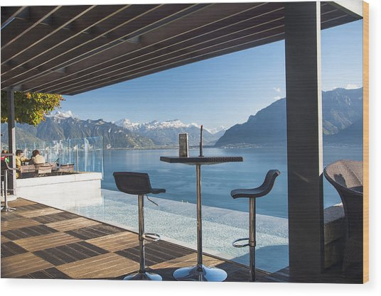 Luxury Swiss View Wood Print