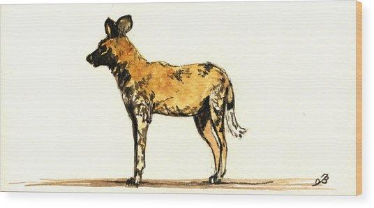 Lycaon Wild Dog  Wood Print